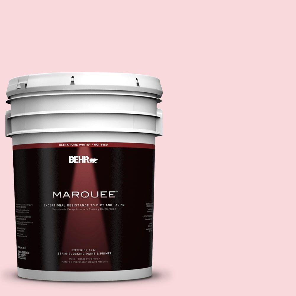 5-gal. #140A-2 Coy Pink Flat Exterior Paint