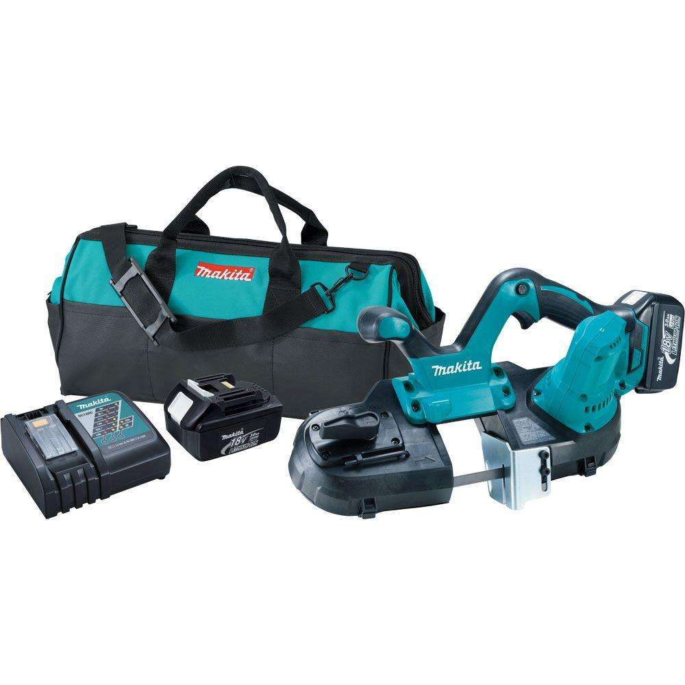 Makita 18-Volt LXT Lithium-Ion Cordless Compact Band Saw Kit-XBP01 - The