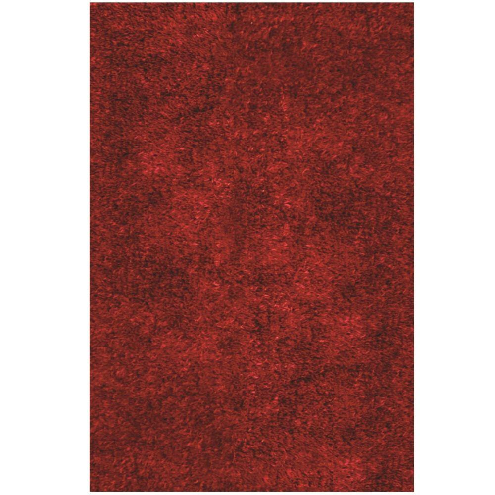 Lifestyle Shag Cranberry 8 ft. x 10 ft. Area Rug