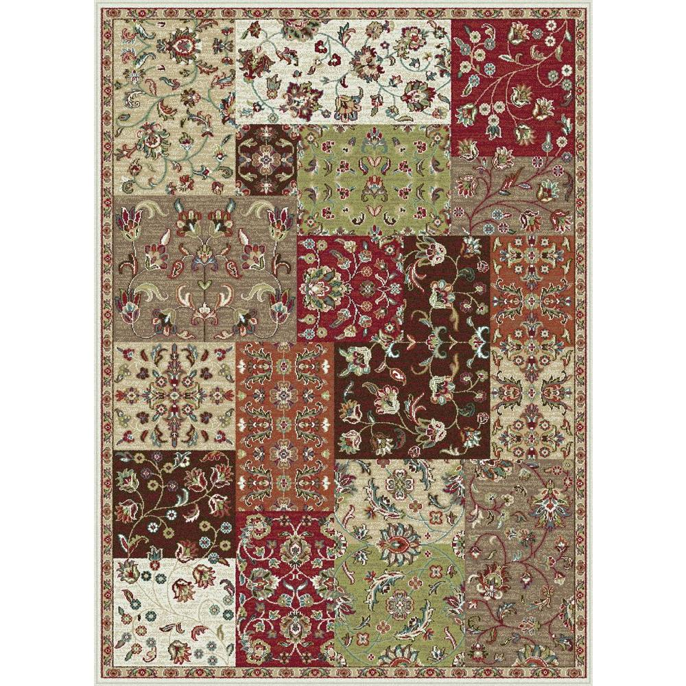 Tayse Rugs Capri Red 8 ft. 10 in. x 10 ft. 6 in. Transitional Area Rug