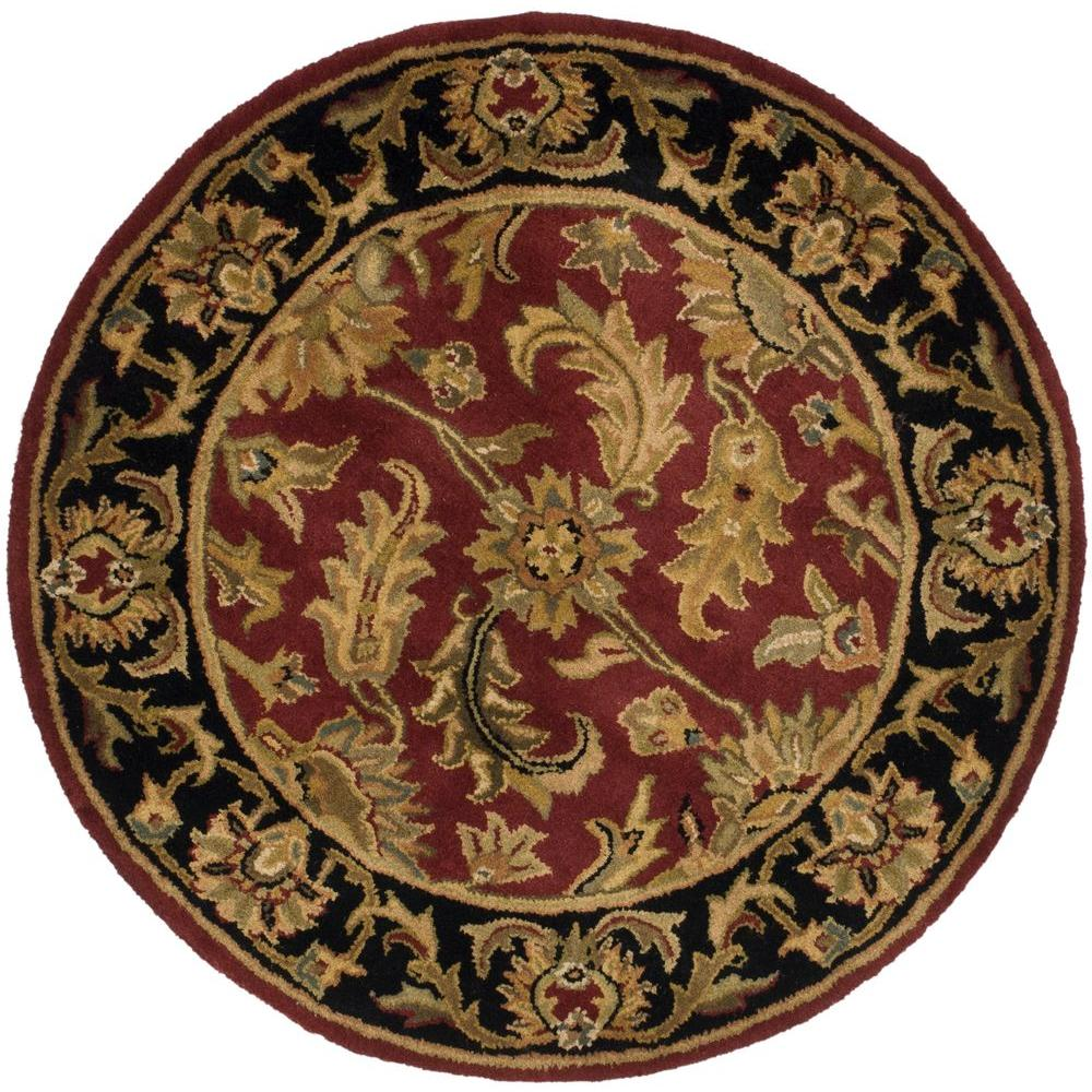 Round Rugs: Safavieh Leather Shag Black 6 Ft. X 6 Ft. Round Area Rug