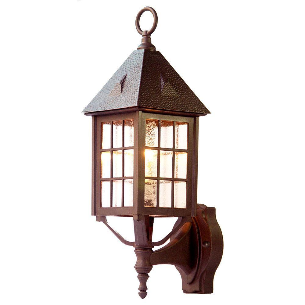 Outer Banks Collection 1-Light Architectural Bronze Outdoor Wall-Mount Fixture