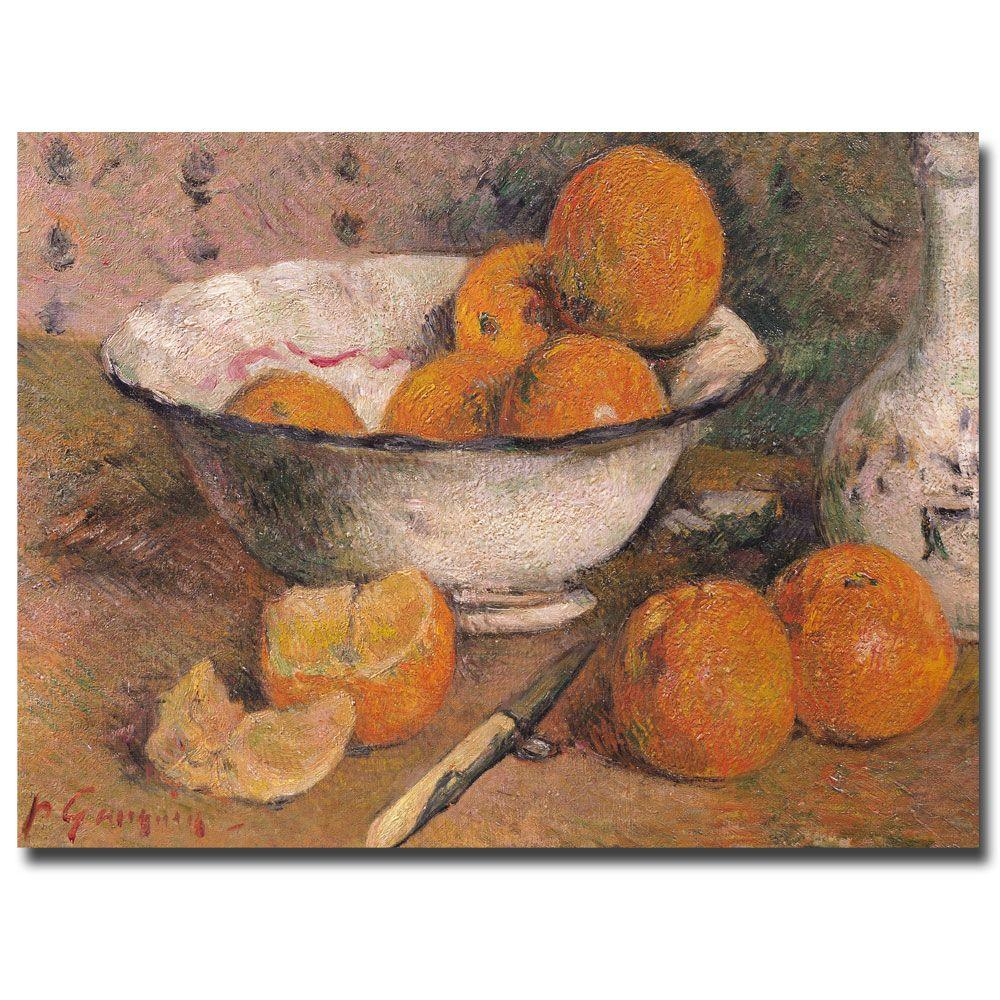 24 in. x 32 in. Still Life with Oranges 1881 Canvas