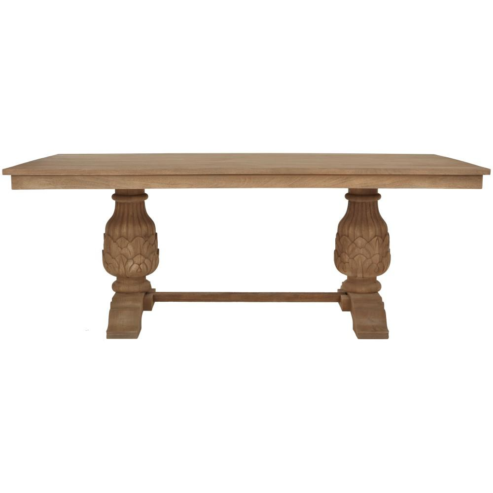 Kingsley Sandblasted Antique Natural Dining TableSafavieh Ludlow Ash Gray Dining Table AMH6645B   The Home Depot. Safavieh Ludlow Dining Table. Home Design Ideas