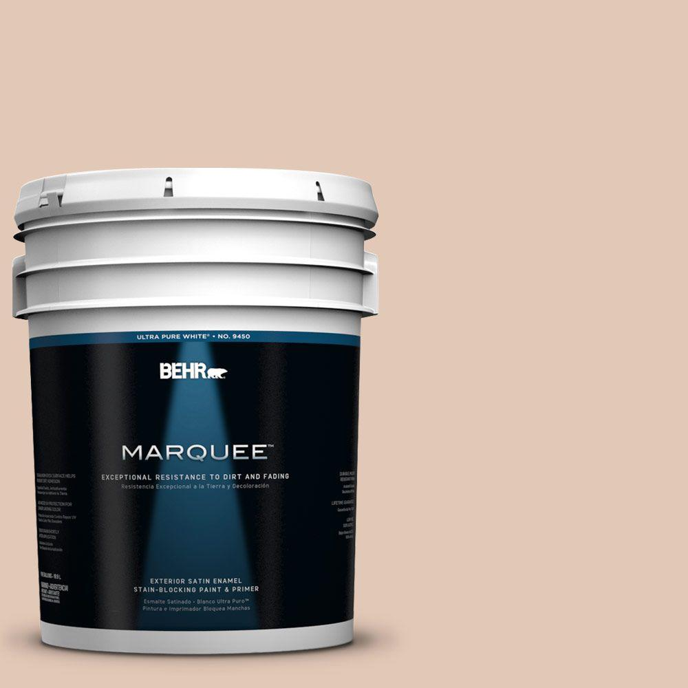 BEHR MARQUEE 5-gal. #290E-2 Oat Cake Satin Enamel Exterior Paint-945005 -