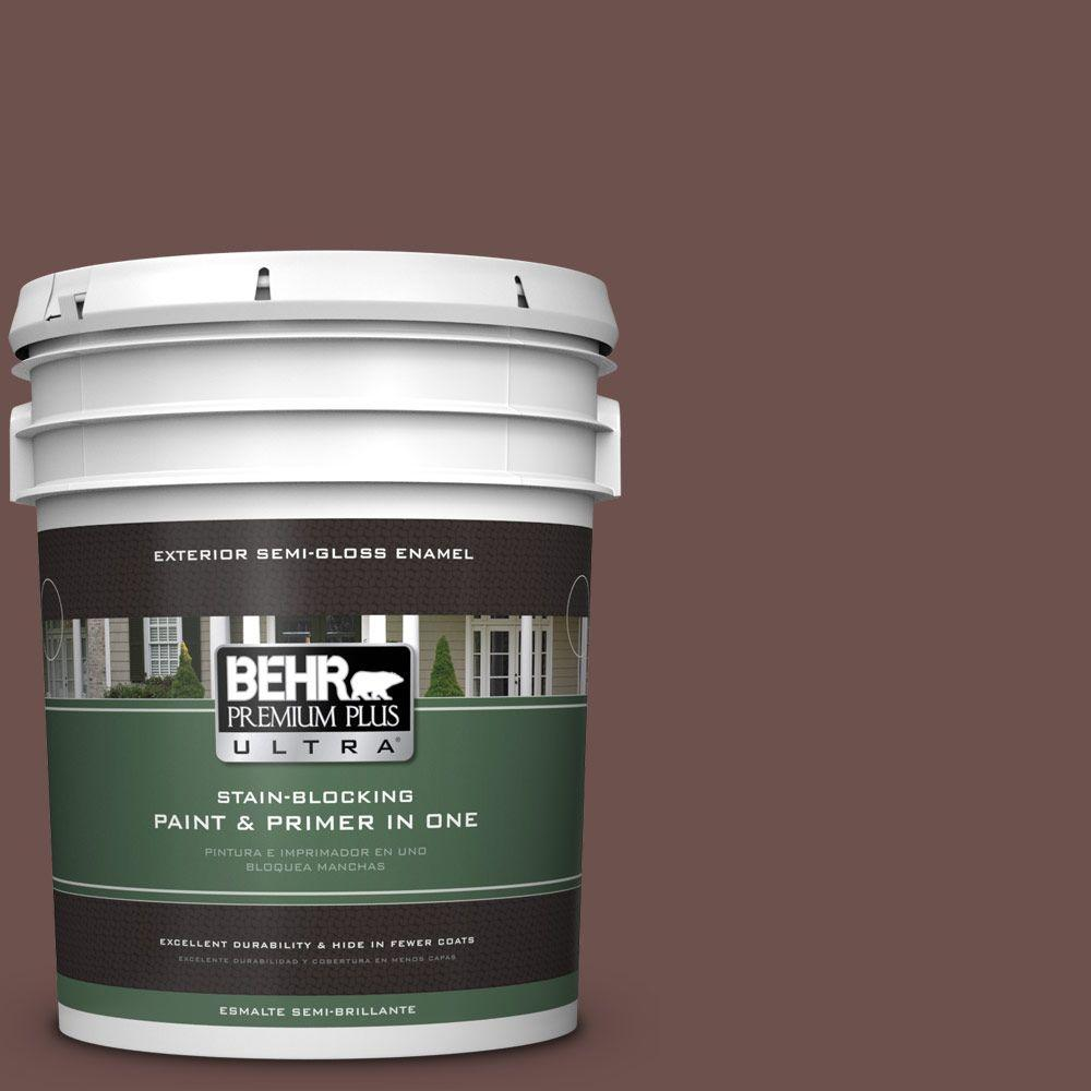 5-gal. #710B-6 Painted Leather Semi-Gloss Enamel Exterior Paint