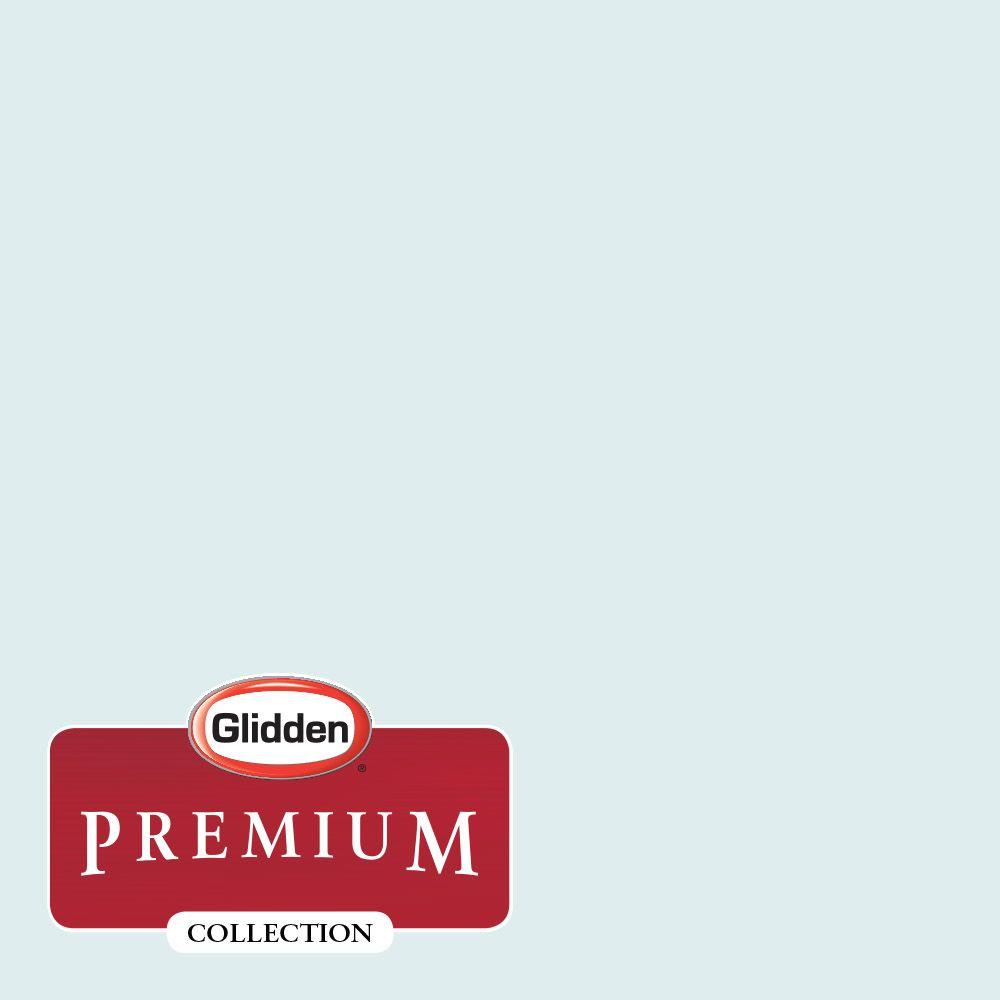 Interior Paint, Exterior Paint & Paint Samples: Glidden Premium Paint 1-gal. #HDGB31U Blue Frost Eggshell Latex Interior Paint with Primer HDGB31UP-01E