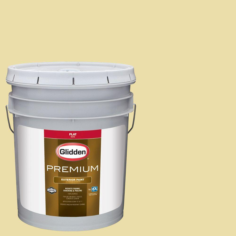 Glidden Premium 5-gal. #HDGY59 Candle Glow Flat Latex Exterior Paint