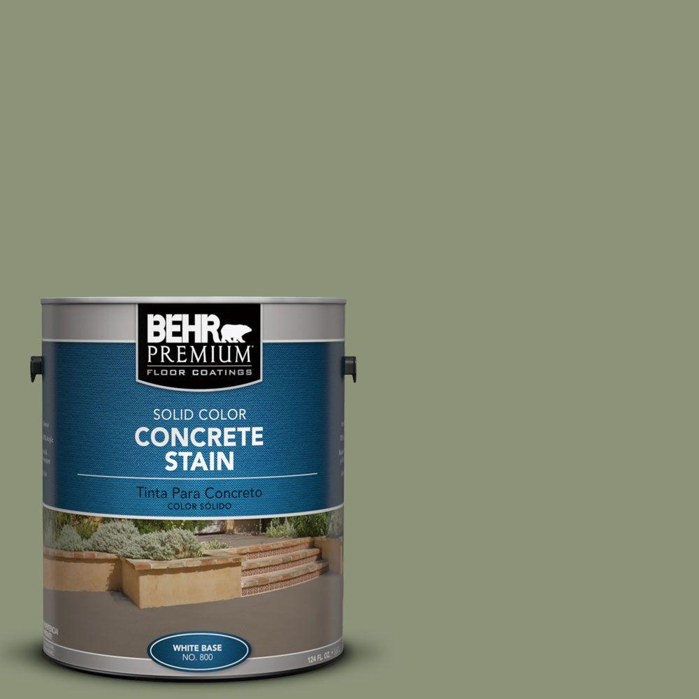 BEHR Premium 1-Gal. #PFC-39 Moss Covered Solid Color Concrete Stain-83001 -