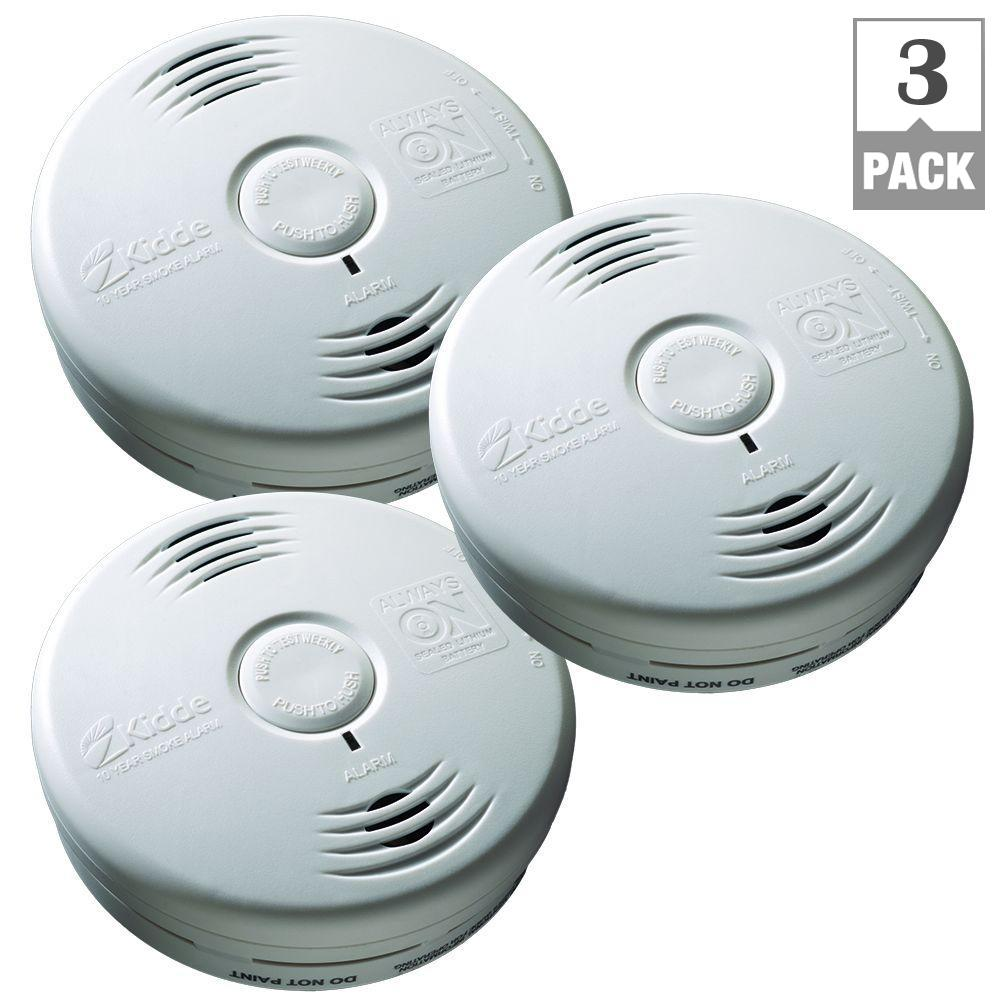 10-Year Worry Free Battery Operated Smoke Alarm with Voice (Bundle of