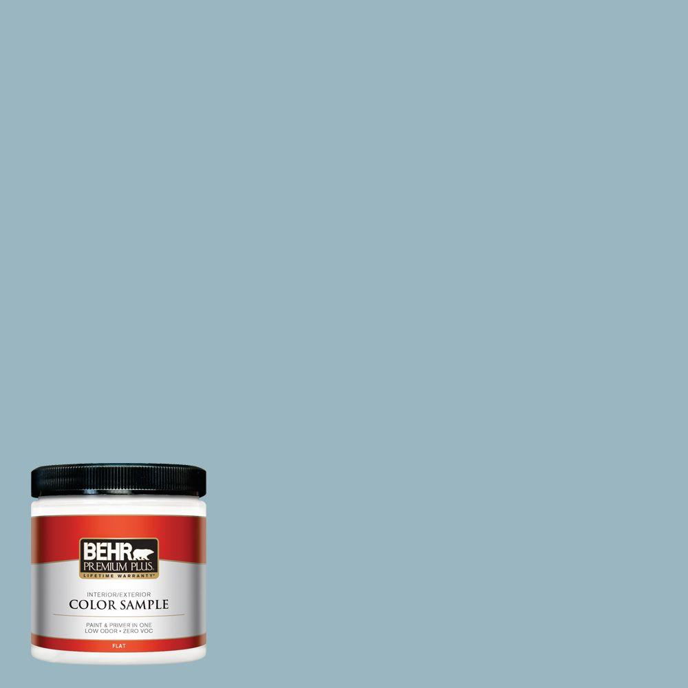 8 oz. #S470-3 Peaceful Blue Interior/Exterior Paint Sample