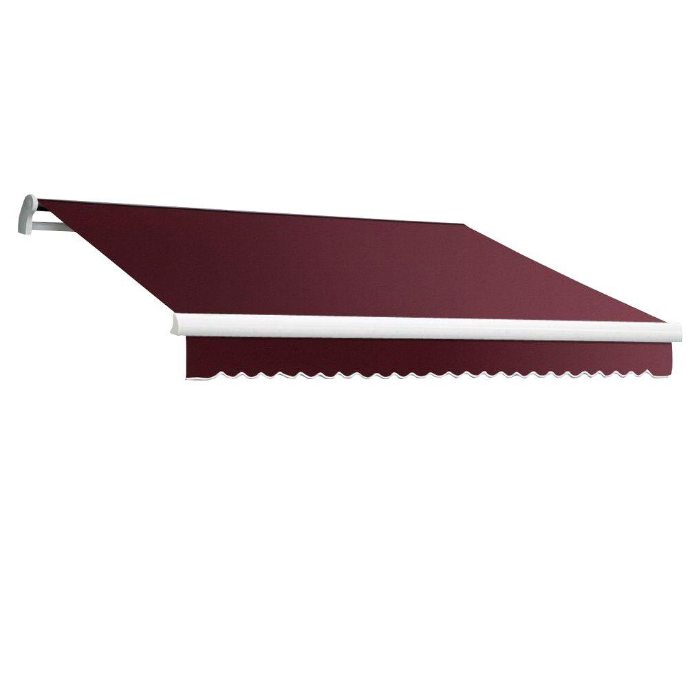 20 ft. MAUI EX Model Manual Retractable Awning (120 in. Projection) in Burgundy