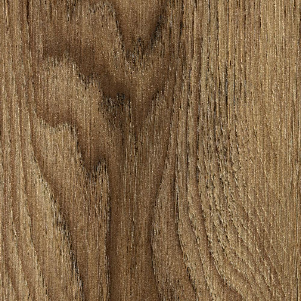 Hickory Fawn 4 mm Thick x 7 in. Wide x 48 in. Length Click Lock Luxury Vinyl Plank (23.36 sq. ft. / case), Brown/Embossed