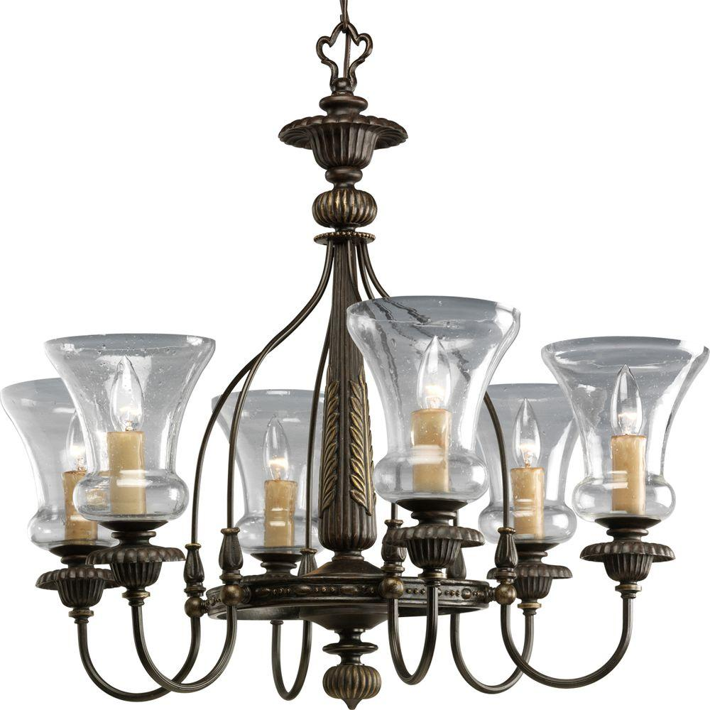 Progress Lighting Fiorentino Collection 6-Light Forged Bronze