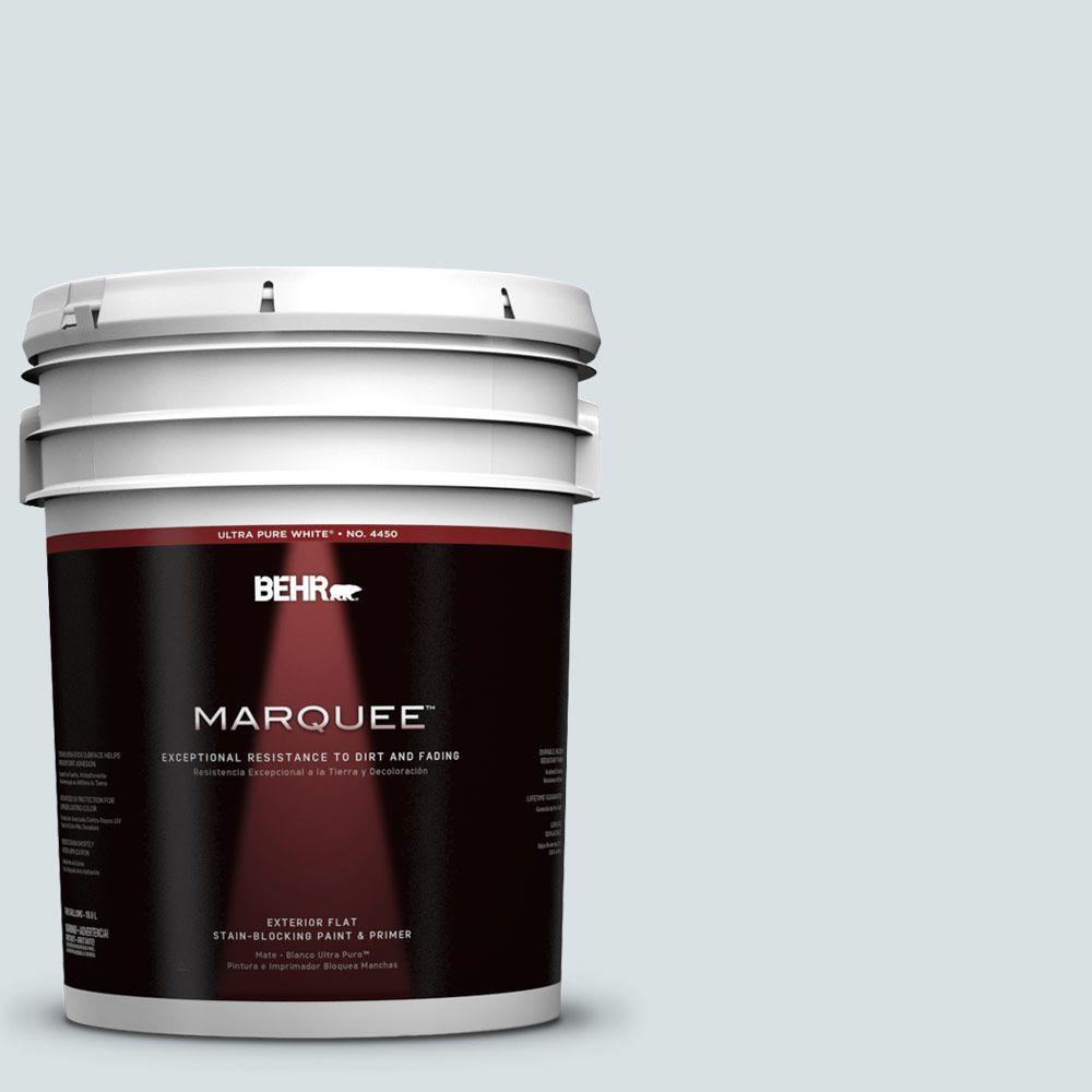 BEHR MARQUEE 5-gal. #730E-2 Sparkling Spring Flat Exterior Paint