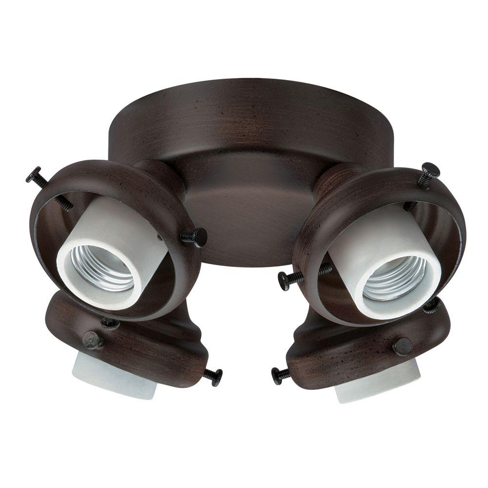 Hunter Cocoa 4-Light Adapter-DISCONTINUED