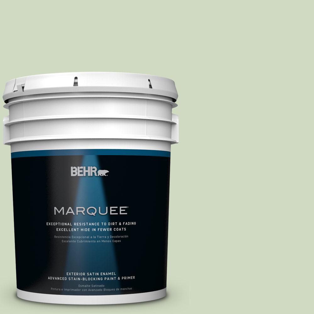 BEHR MARQUEE 5-gal. #M380-2 Glade Green Satin Enamel Exterior Paint