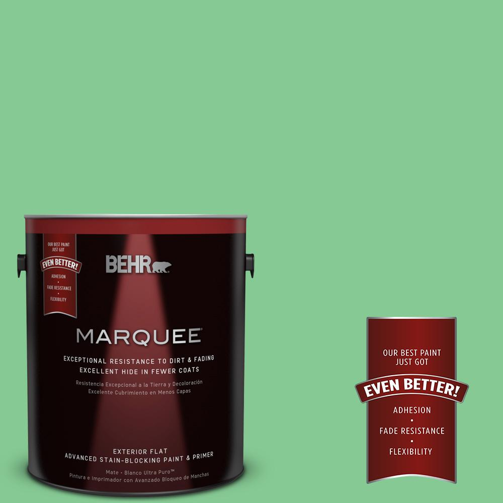 1-gal. #P400-4 Good Luck Flat Exterior Paint