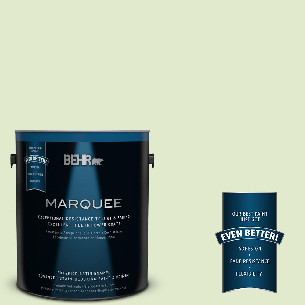 BEHR MARQUEE 1-gal. #P370-2 Praying Mantis Satin Enamel Exterior Paint-945001 -