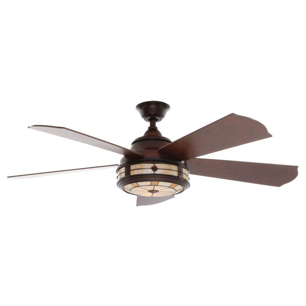 Savona 52 in. Indoor Weathered Bronze Ceiling Fan with Light Kit