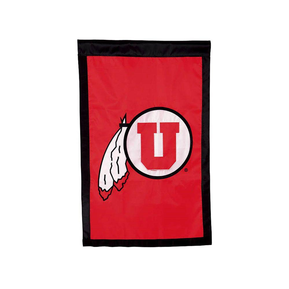 Fan Essentials NCAA 28 in. x 44 in. University of Utah Applique House Flag