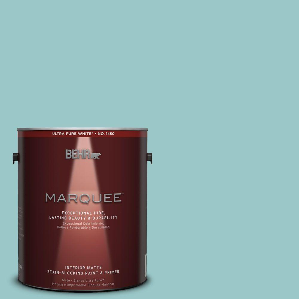 BEHR MARQUEE 1 gal. #MQ6-8 Aquifer One-Coat Hide Matte Interior Paint