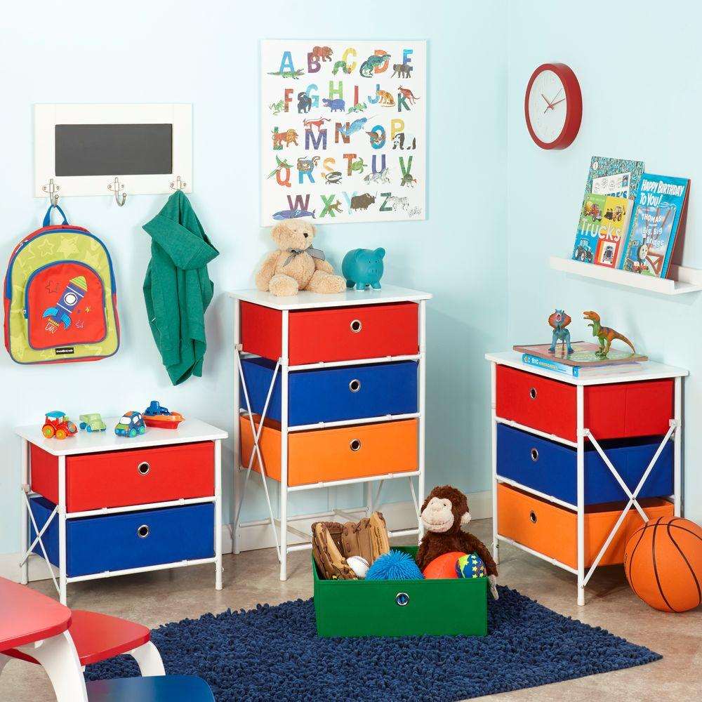 Sort and Store Kids 3-Drawer White Chest