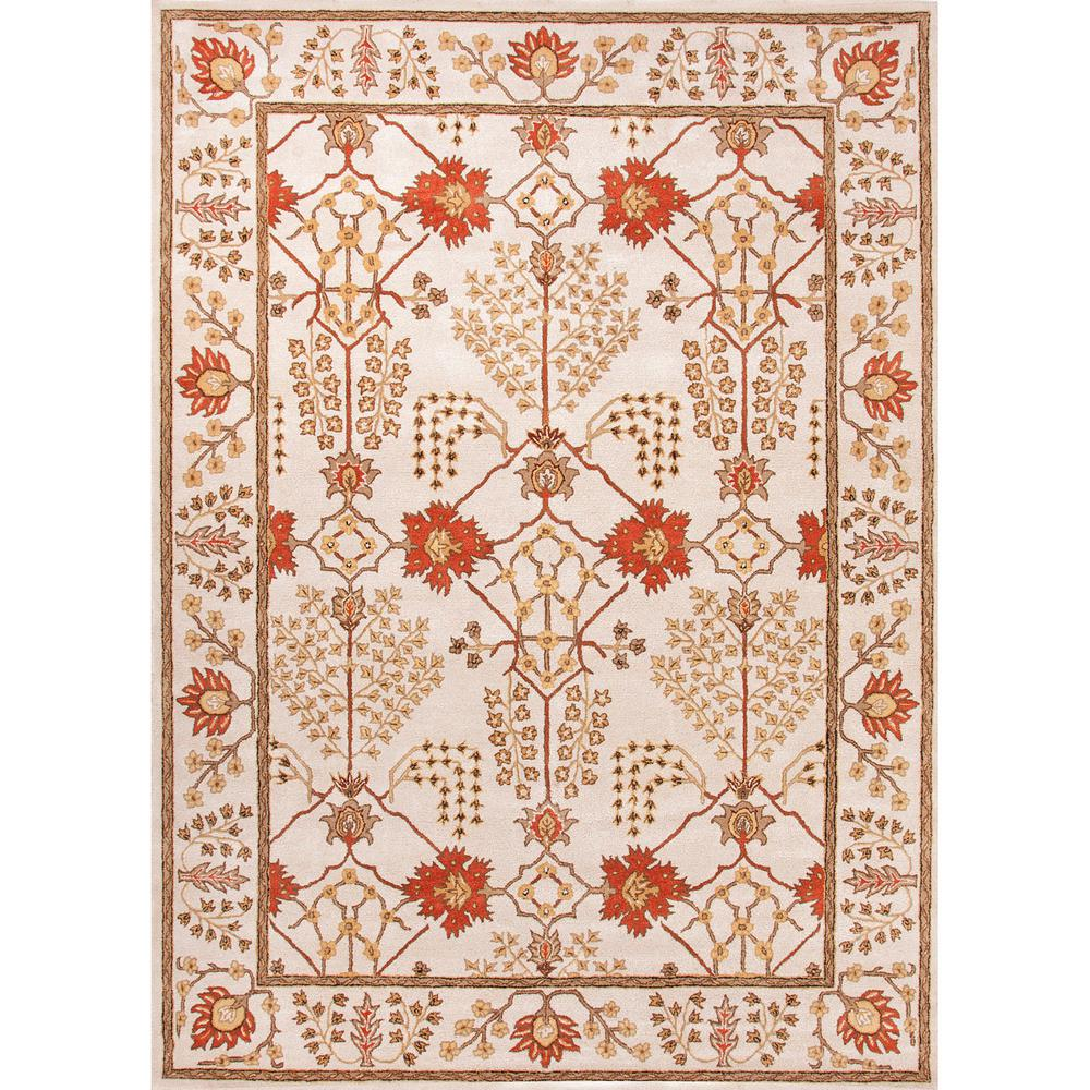 Hand-Tufted Turtledove 5 ft. x 8 ft. Oriental Area Rug