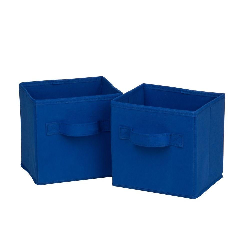 Mini Non-Woven Foldable Storage Cube in Blue (6-Pack)