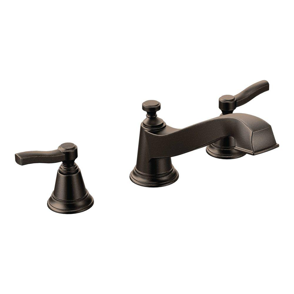Rothbury 2-Handle Low-Arc Roman Tub Faucet Trim Kit in Oil Rubbed