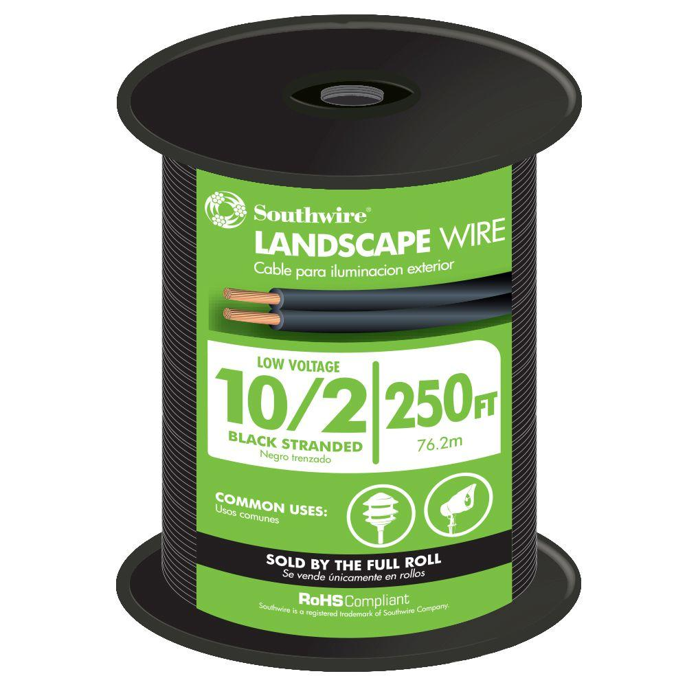 Southwire 250 ft. 10-2 Landscape Lighting Wire-55213501 - The Home Depot