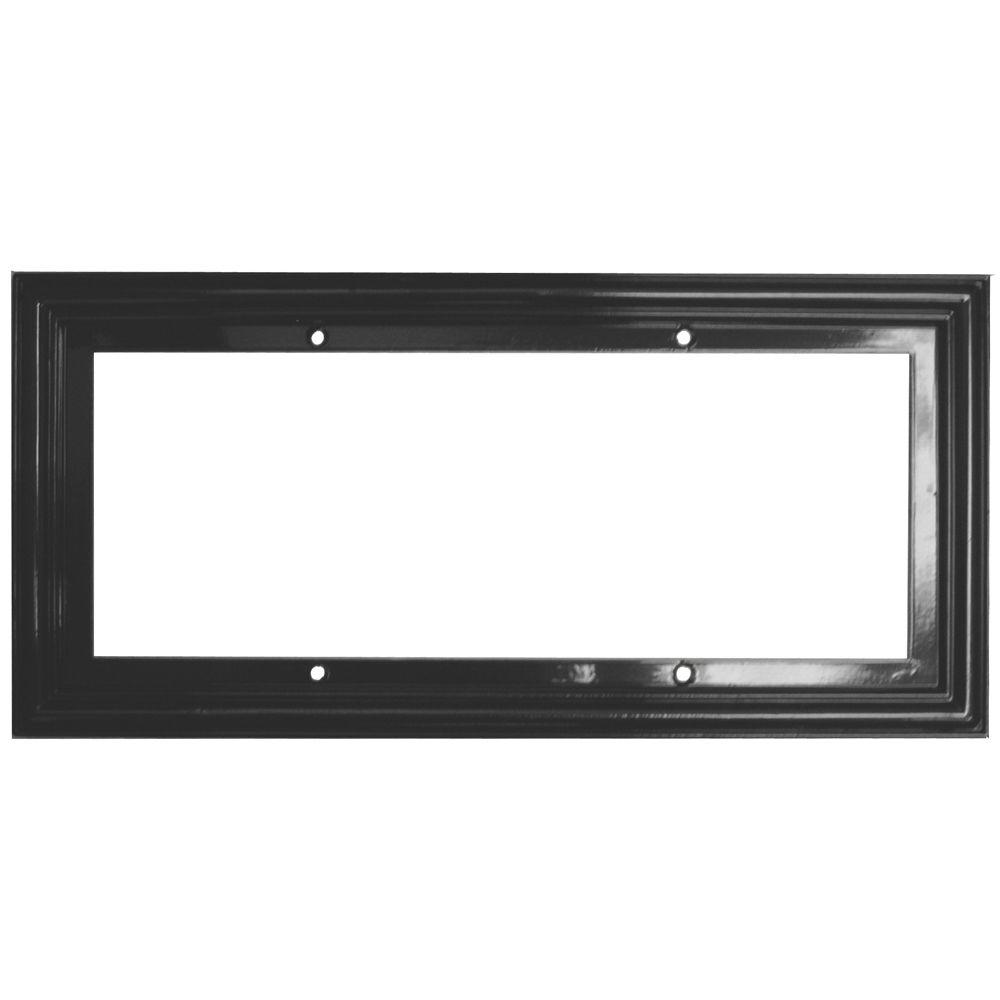 null 3 in. x 6 in. Black Standard Frame Number 5