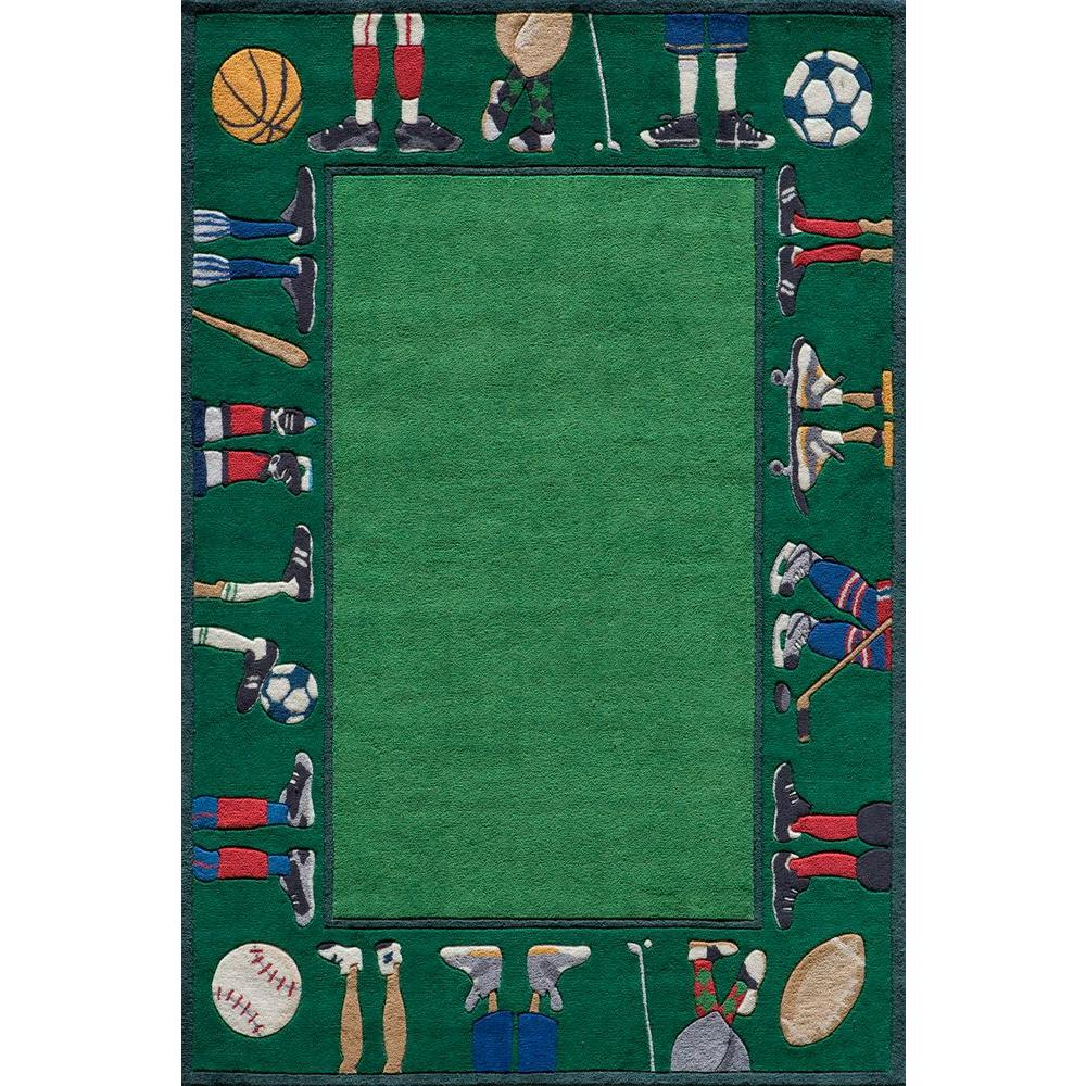 Caprice Collection Green 8 ft. x 10 ft. Indoor Area Rug
