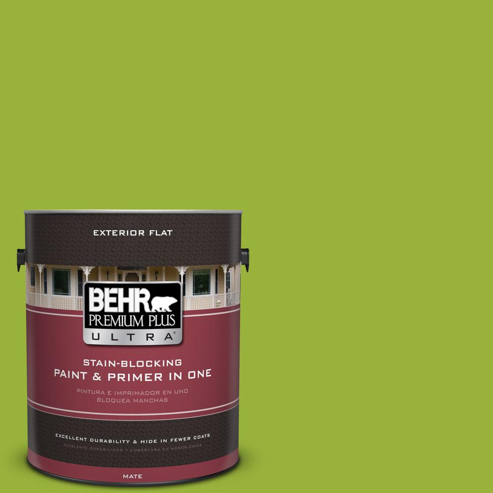 1-gal. #410B-7 Bamboo Leaf Flat Exterior Paint