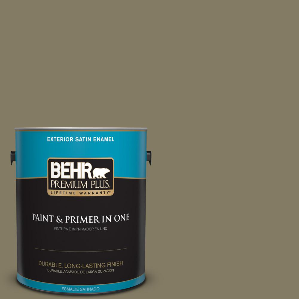 1 gal. #PPU8-24 Deserted Island Satin Enamel Exterior Paint