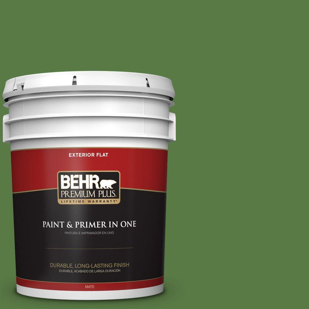 5-gal. #S-H-430 Mossy Green Flat Exterior Paint