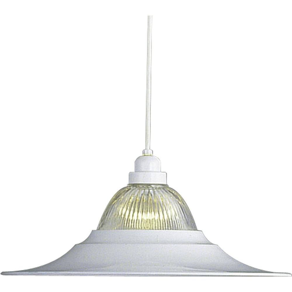 1-Light White Interior Pendant
