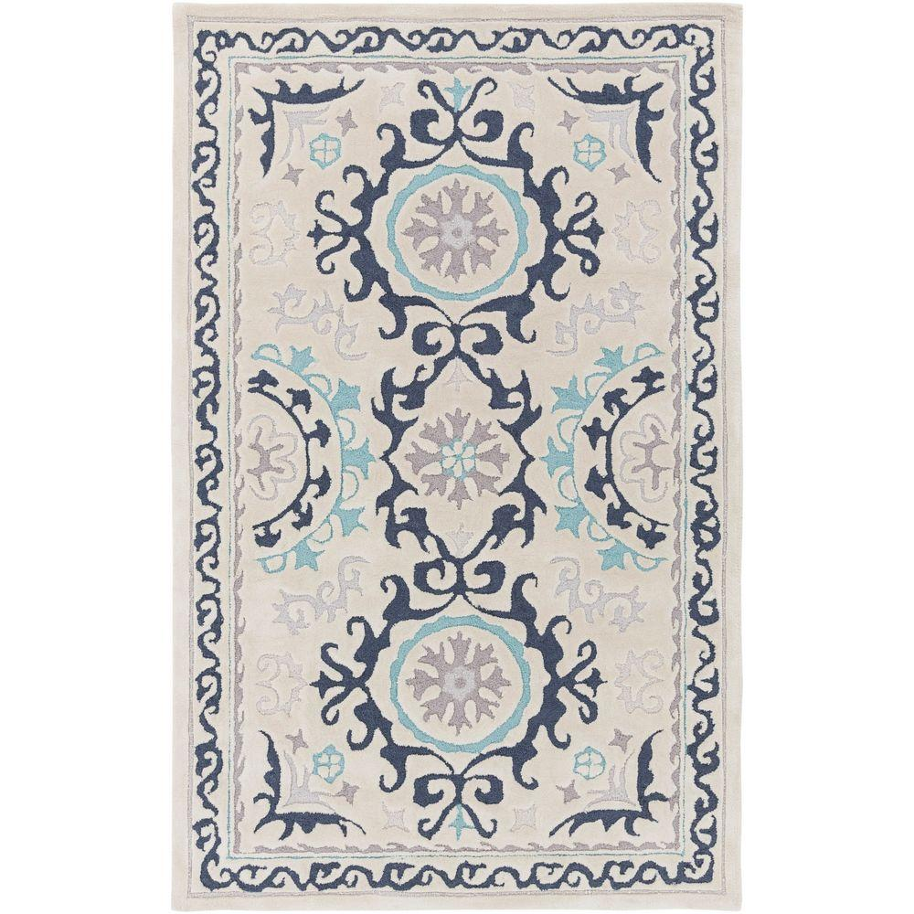 Sarkali Lilac 5 ft. x 8 ft. Indoor Area Rug