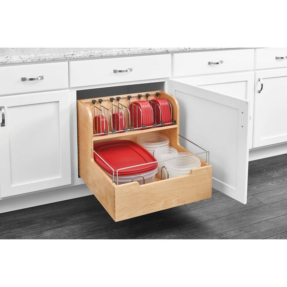 Rev a shelf in h x 20 5 in w x in d wood for Kitchen cabinet organizers