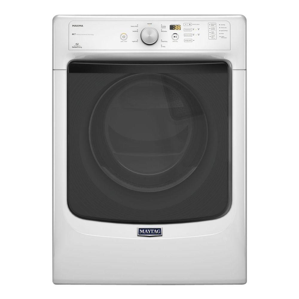 Maytag 7.3 cu. ft. Electric Dryer in White-MED4100DW - The Home