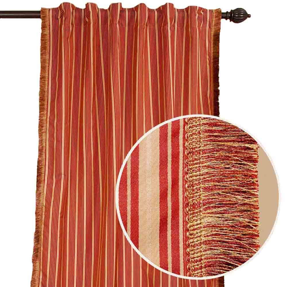 Home Decorators Collection Rupa Terracotta Drapery Panel-DISCONTINUED