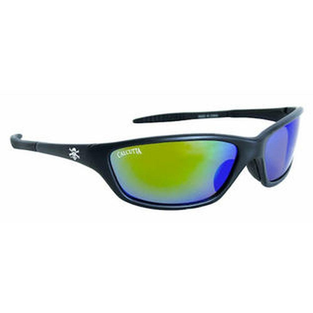 null Black Frame Tellico Sunglasses with Green Mirror Lenses-DISCONTINUED