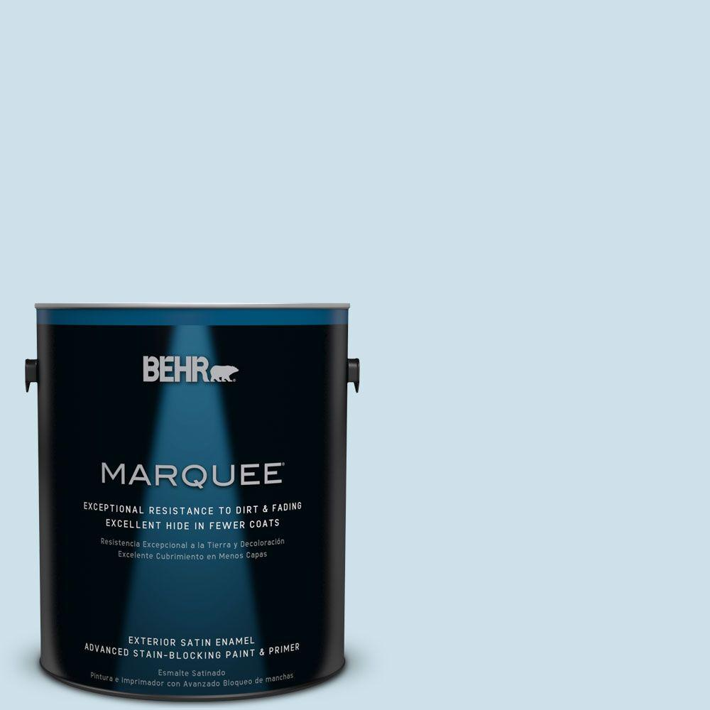 BEHR MARQUEE 1-gal. #PPL-24 Endless Sky Satin Enamel Exterior Paint-945001 -
