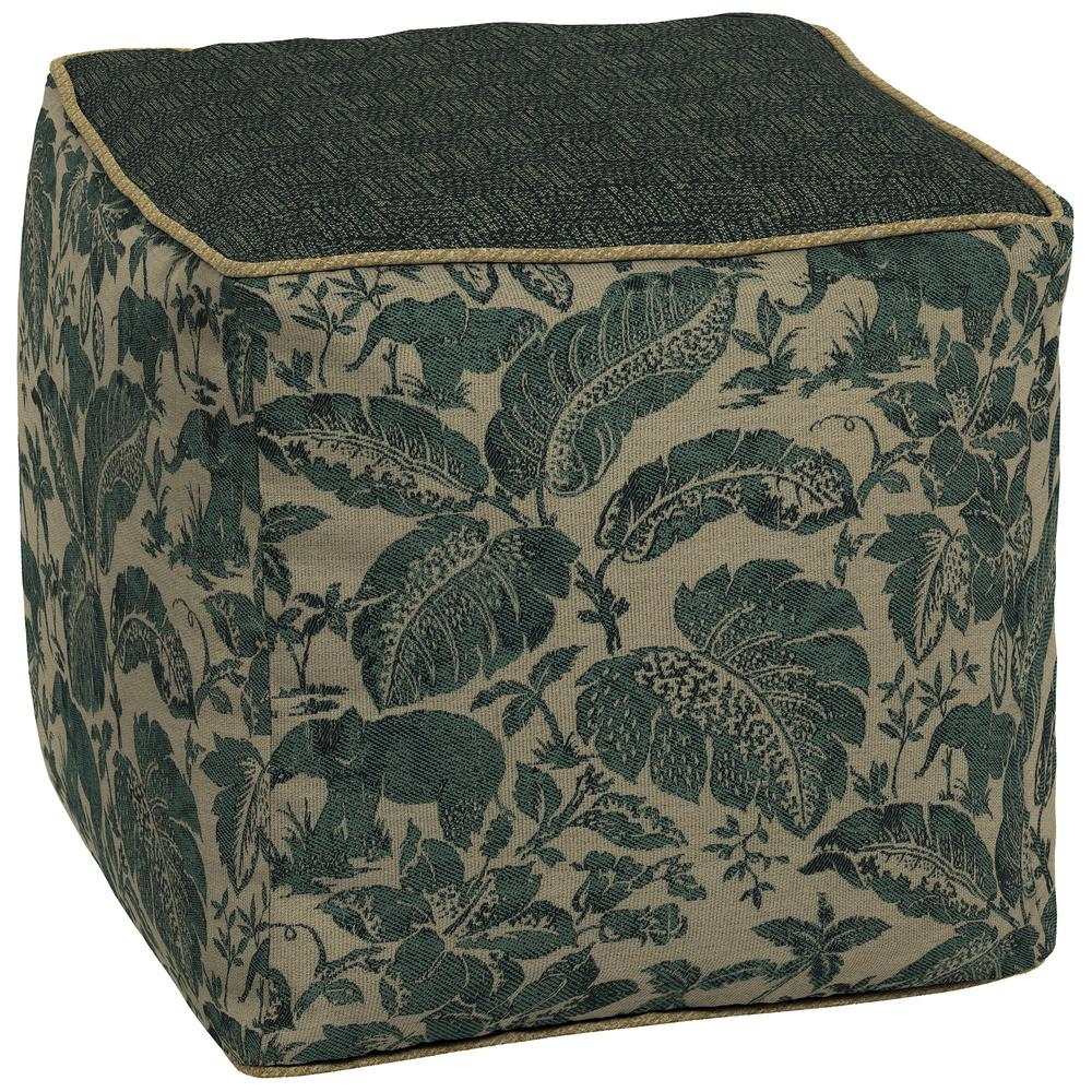 Tangier Stitch Square Outdoor Pouf Ottoman Cushion