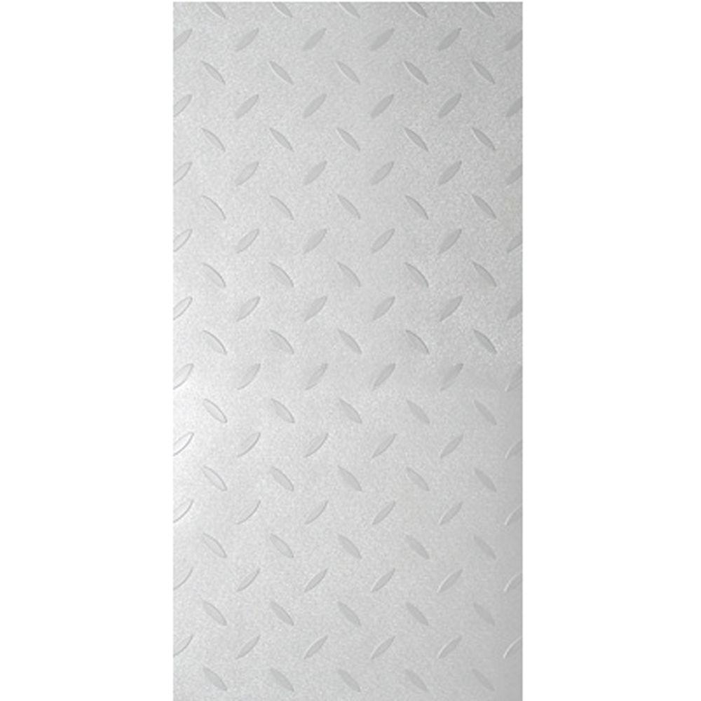 TrafficMASTER Commercial 12 in. x 36 in. Diamond Plate Silver Vinyl Flooring (24 sq. ft. / case)