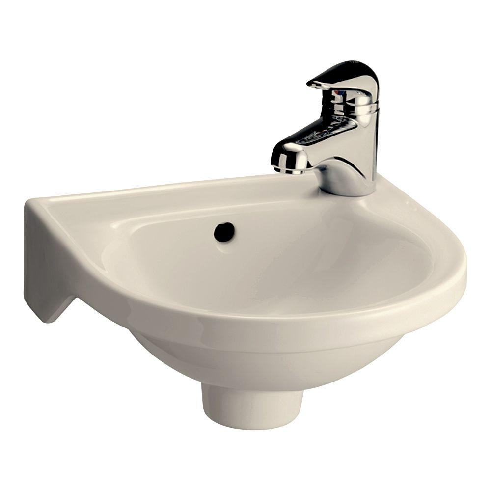 Pegasus Rosanna Wall-Mounted Bathroom Sink in Bisque