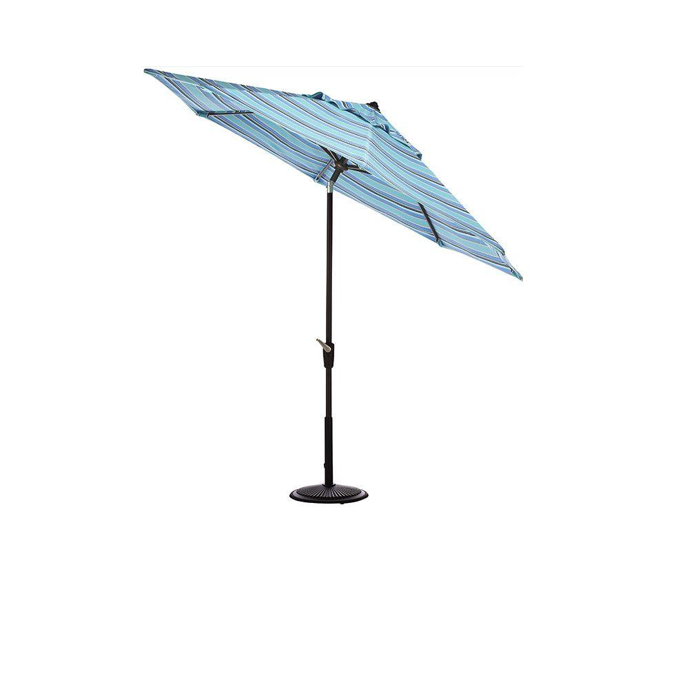 Home Decorators Collection 11 ft. Auto-Tilt Patio Umbrella in Dolce Oasis