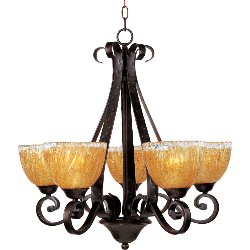 Maxim Lighting Barcelona-Single-Tier Chandelier-13415AIOI - The Home Depot
