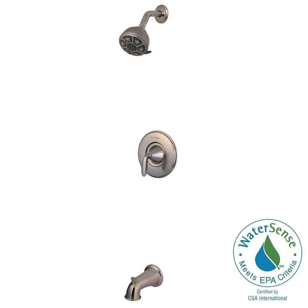 Pfister Pasadena Single-Handle 3-Spray Tub and Shower Faucet in Brushed Nickel