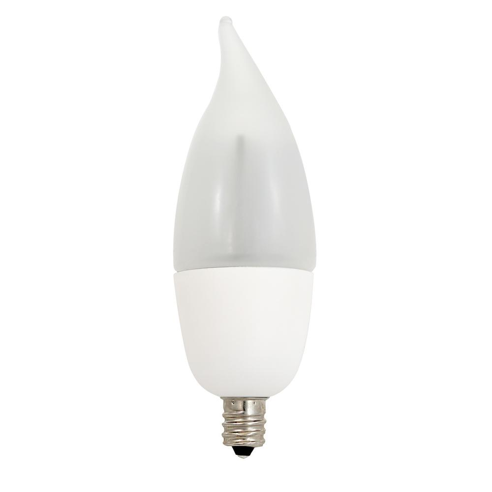 10W Equivalent Warm White CA9.5 Non-Dimmable Frosted LED Animated Flame Light